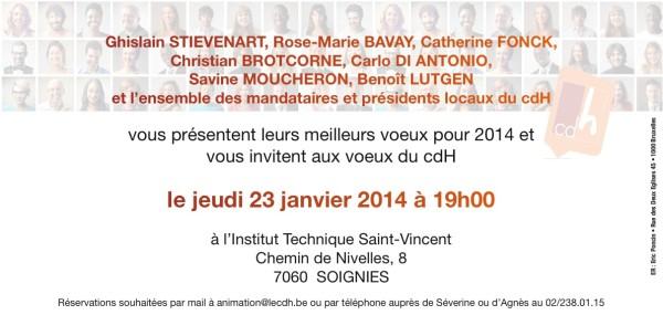 INVIT VOEUX 23 JANVIER 19H00 SOIGNIES